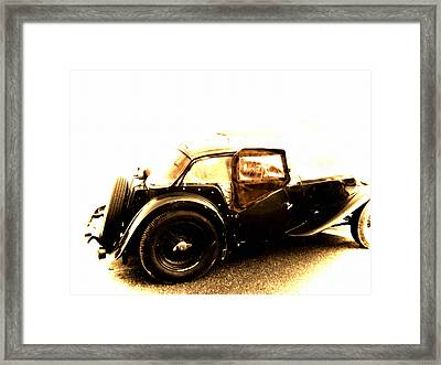 The Vintage Of British Time Framed Print by Steven Digman