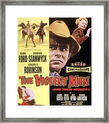 The Violent Men, Glenn Ford, Barbara Framed Print by Everett