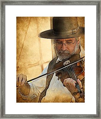 Framed Print featuring the digital art The Violinist by Thanh Thuy Nguyen