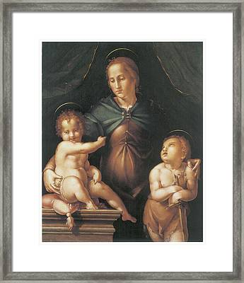 The Virgin And Child  Framed Print by Pier Francesco Foschi