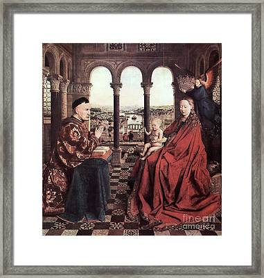 The Virgin Of Chancellor Rolin Framed Print