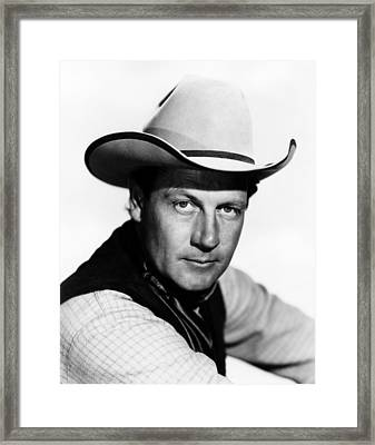 The Virginian, Joel Mccrea, 1946 Framed Print
