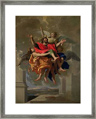 The Vision Of St. Paul Framed Print by Nicolas Poussin