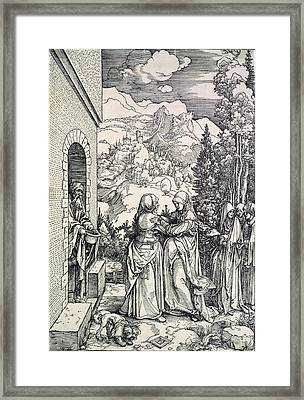 The Visitation, The Virgin And St Framed Print by Everett