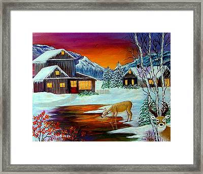 Framed Print featuring the painting The Visitors by Fram Cama