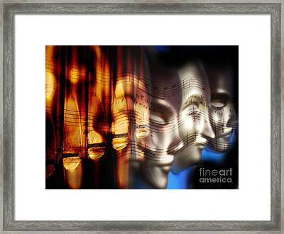 The Voices Framed Print