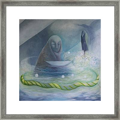 Framed Print featuring the painting The Volve Rises Again by Tone Aanderaa