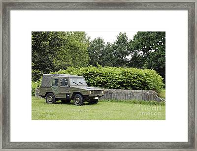 The Vw Iltis Jeep Used By The Belgian Framed Print by Luc De Jaeger