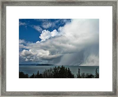 Framed Print featuring the photograph The Wall by David Gleeson