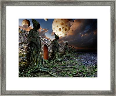 Framed Print featuring the photograph The Wall by Mariusz Zawadzki