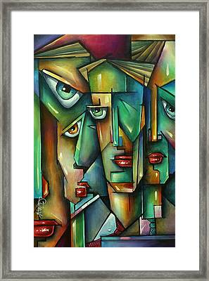 The Wall Framed Print by Michael Lang