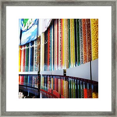 The Wall Of Candy Framed Print