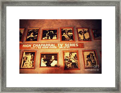 The Wall Of Fame In Old Tuscon Az Framed Print by Susanne Van Hulst