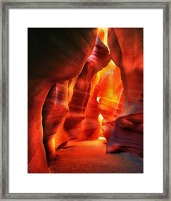 The Wall Of Fire Framed Print by Daniel Chui