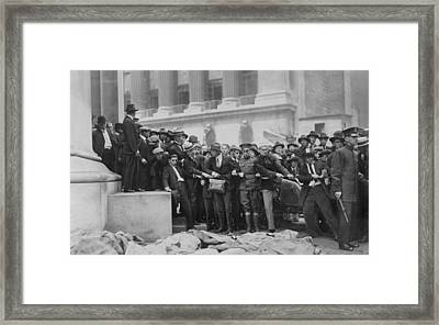 The Wall Street Bombing. Soldiers Framed Print