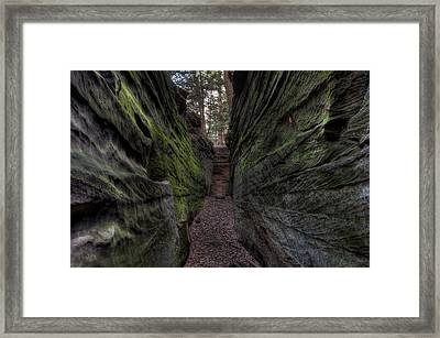The Walls Are Closing In Framed Print