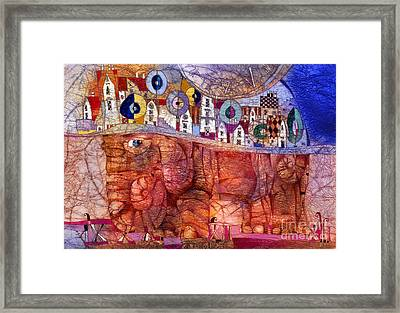 The Wandering Elephant Framed Print by Svetlana and Sabir Gadghievs