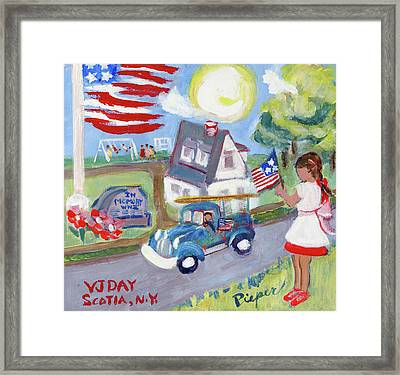 The War Is Over And I Wear My New Pinafore Framed Print