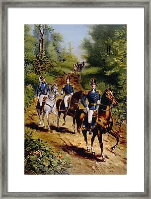The War Of 1812, U.s. General Staff Framed Print by Everett