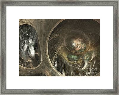 The Watcher Of Two Worlds Framed Print by Sipo Liimatainen