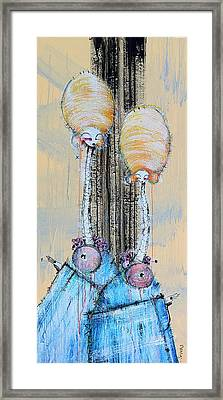 The Watchers Attempt Communication Framed Print by Mark M  Mellon