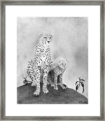 The Watchers Framed Print by Kenny Chaffin