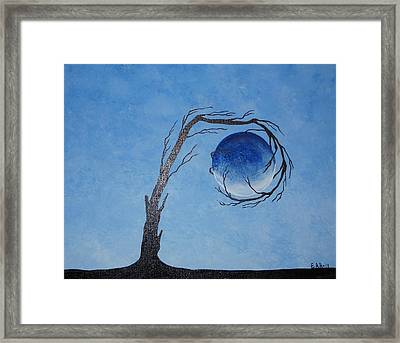 Framed Print featuring the painting The Water Element by Edwin Alverio