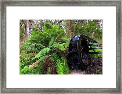 The Water Wheel Framed Print