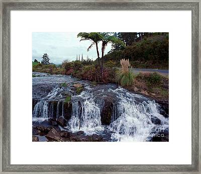 The Waterfall In The Stream Framed Print