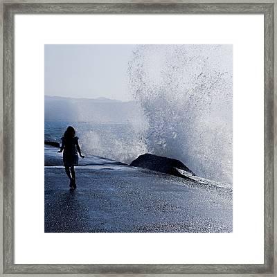 The Wave Framed Print by Joana Kruse