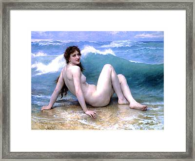 The Wave Framed Print by Sumit Mehndiratta