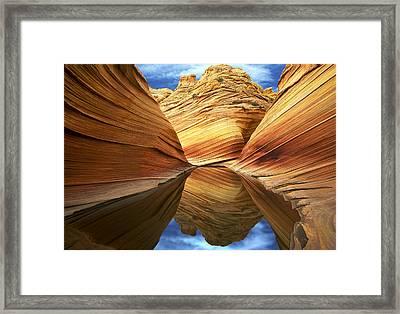 The Wave Reflection Framed Print