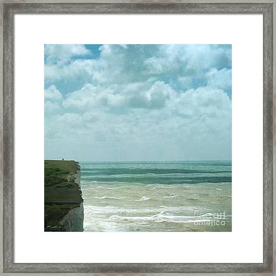 The Waves Bellow Us Framed Print by Paul Grand
