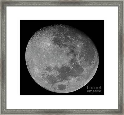 The Waxing Gibbous Moon In A High Framed Print