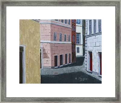 The Way To Baffetto's  Framed Print