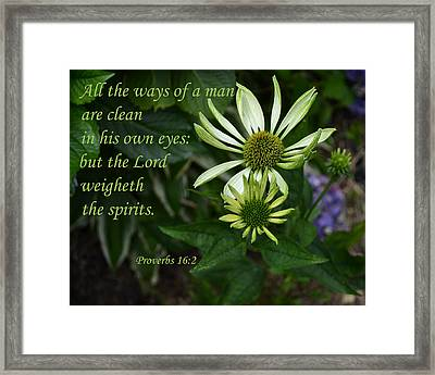 The Ways Of A Man Framed Print by Larry Bishop
