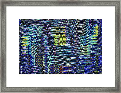 The Weave Framed Print by Leslie Revels Andrews