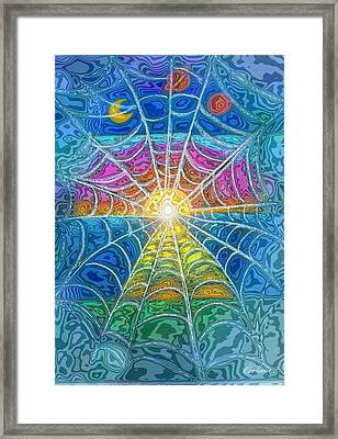 The Web Of Wyrd Framed Print by Diana Haronis