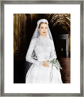 The Wedding In Monaco, Grace Kelly, 1956 Framed Print by Everett