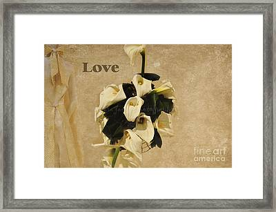 Framed Print featuring the photograph The Wedding by Tamera James