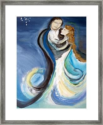 The Wedding Framed Print by Ginna Viveros