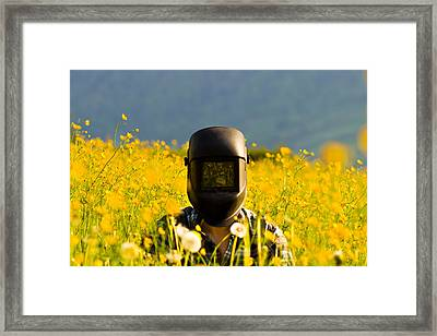 The Welding Fields Framed Print by Justin Albrecht