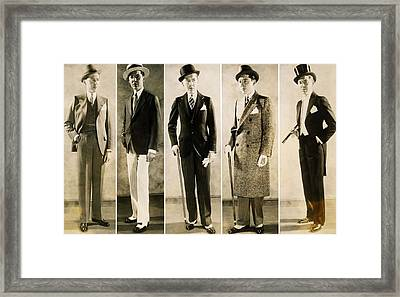 The Well Dressed Mans Wardrobe In 1929 Framed Print by Everett