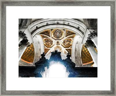 The West Doorway Of St Paul's Cathedral Framed Print by Steve Taylor