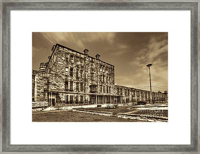 The West Virginia State Penitentiary Backside Framed Print by Dan Friend