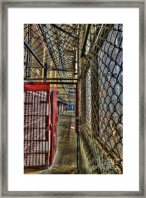 The West Virginia State Penitentiary Cell Hallway Framed Print by Dan Friend