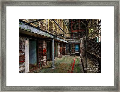 The West Virginia State Penitentiary Cells Framed Print by Dan Friend