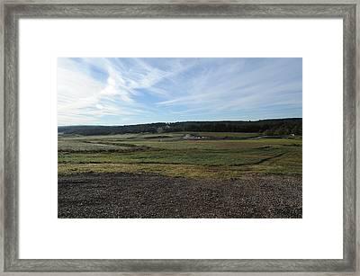 The Western Overlook Where Flight 93 Framed Print
