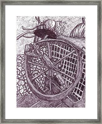 The Wheel Framed Print by Cecelia Taylor-Hunt