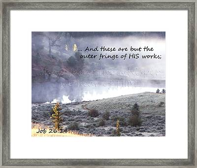 The Whisper Of God Framed Print by Robin Hall